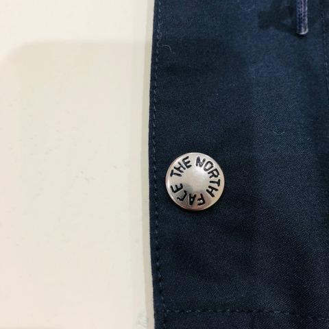 ノースフェイスのスナップボタン